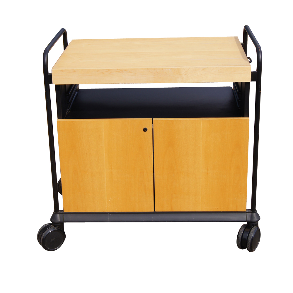 Details About Kitchen Utility Birch Rolling Cart Cabinet With Butcher