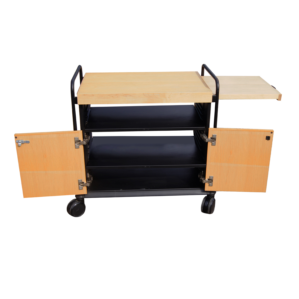 Utility cart with cutting board woodnatural w target of for Kitchen utility cart