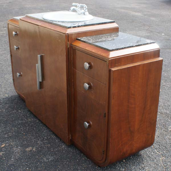 details about 6ft art deco marble bathroom vanity sink cabinet