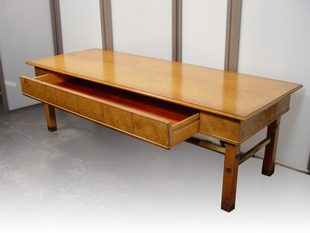 Midcentury retro style modern architectural vintage for Cocktail table with 4 benches