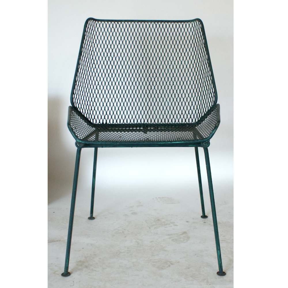 Salterini Vintage Wire Mesh Outdoor Chairs Wire Mesh Seat Circa 1950