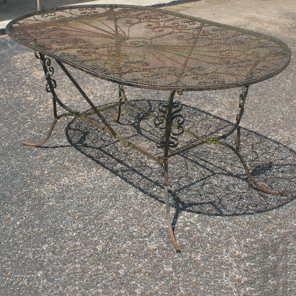 Wrought Iron Picnic Table Bing images