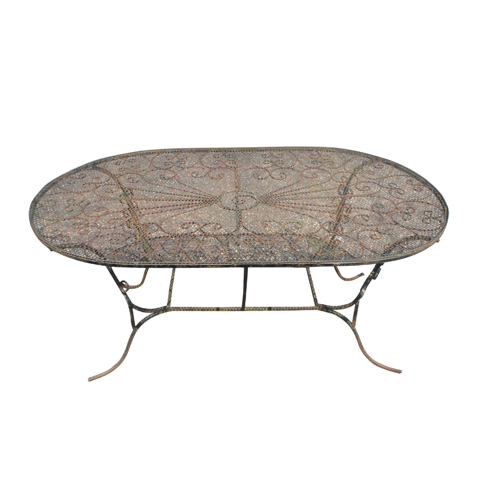 Details About Wrought Iron Patio Dining Table