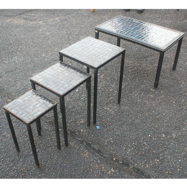 (4) Vintage Nesting Coffee Side Patio Tables