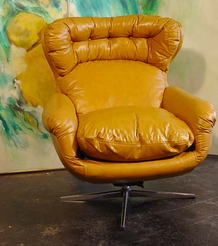 scandinavian leather chair - Walmart.com