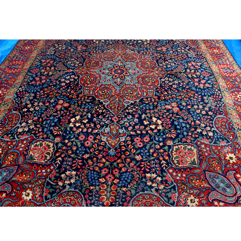 8ftx10ft Vintage Persian Hand Woven Oriental Rug