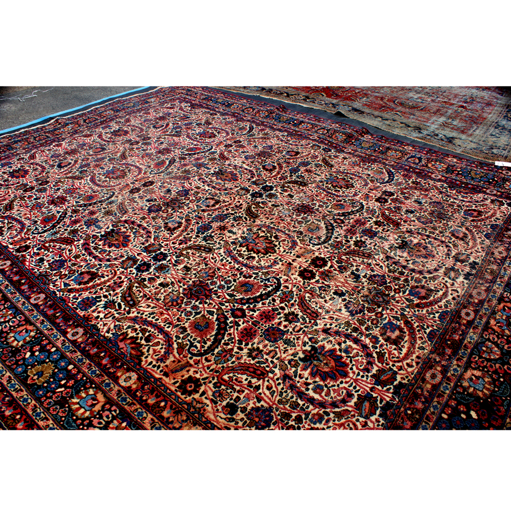 10ftx14ft Vintage Persian Hand Woven Oriental Rug