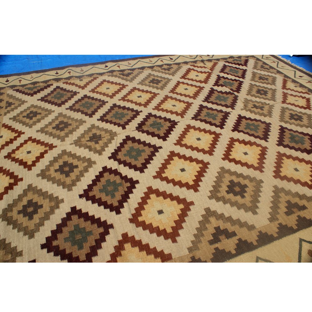 9' X 12' Oriental Hand Knotted Wool Indian Rug 70% OFF