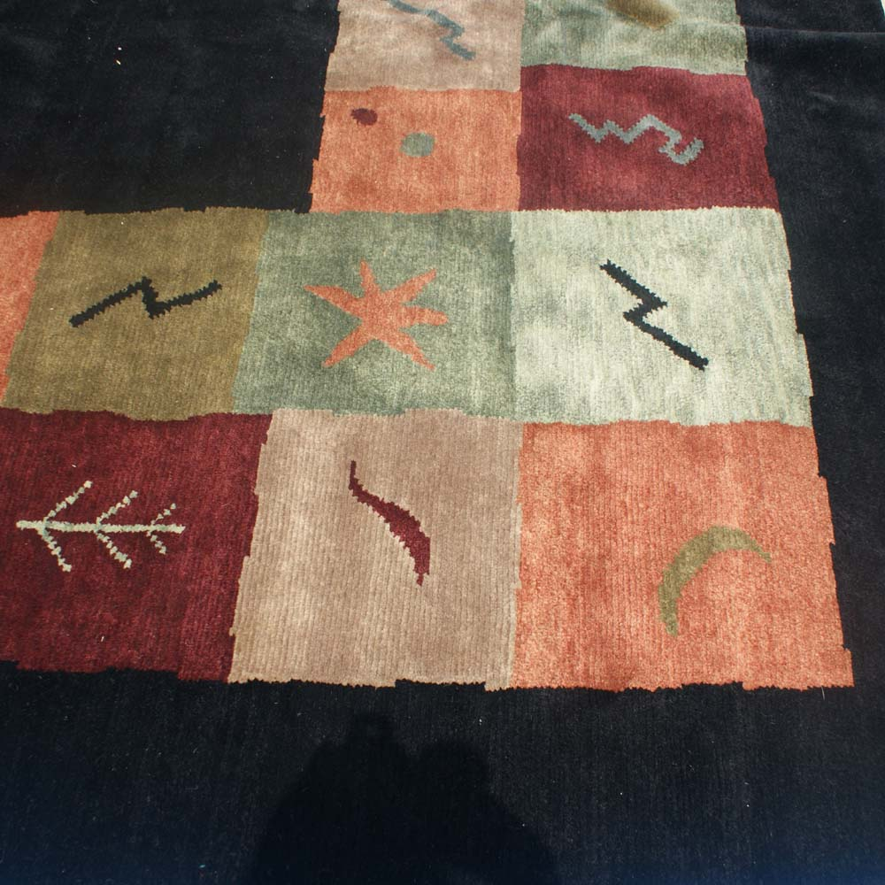 11ft X 9ft Genuine Hand Woven Wool Indian Rug