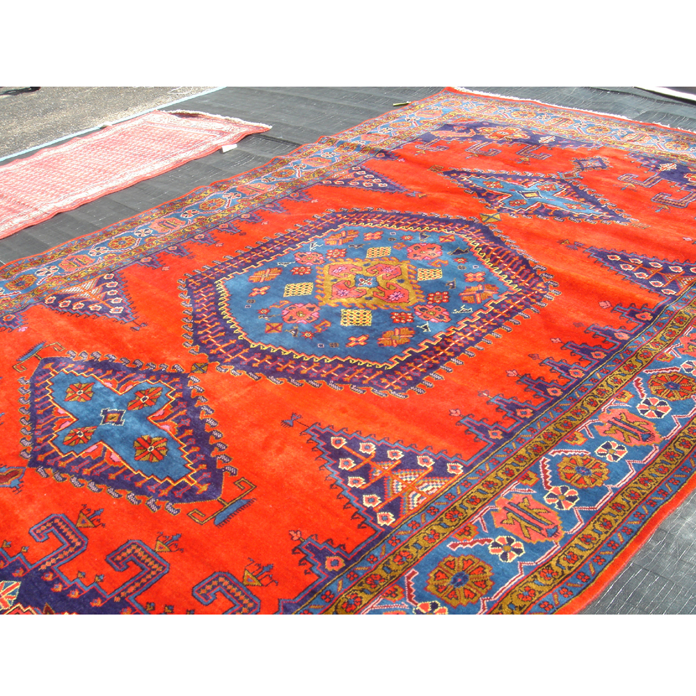 Persian Rug Vibrant Orange And Blues