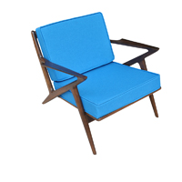 Vintage Mid Century Z Chair By Poul Jensen For Selig