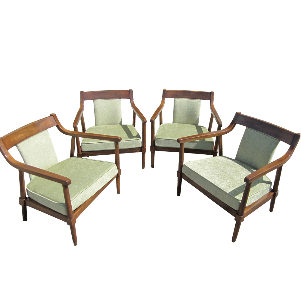Midcentury scandinavian lounge chairs by american furniture of martinsville 4 ebay - Scandinavian chair ...