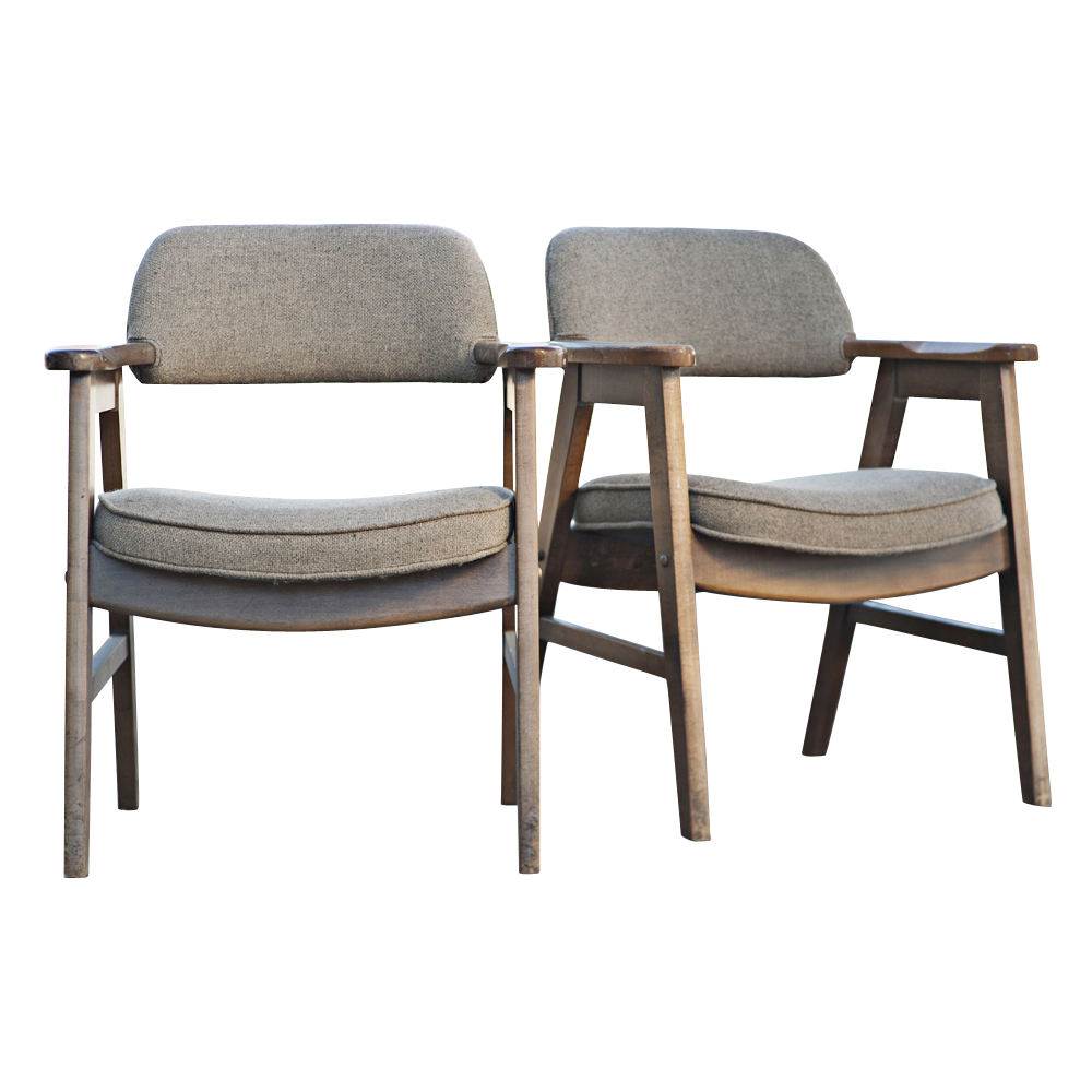 2 mid century modern seba scandinavian arm chairs for Mid century modern danish furniture