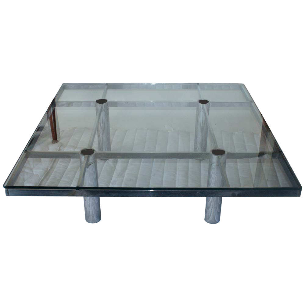 """Low Black Square Coffee Table: 45"""" Tobia Scarpa Andre Low Square Coffee Table"""