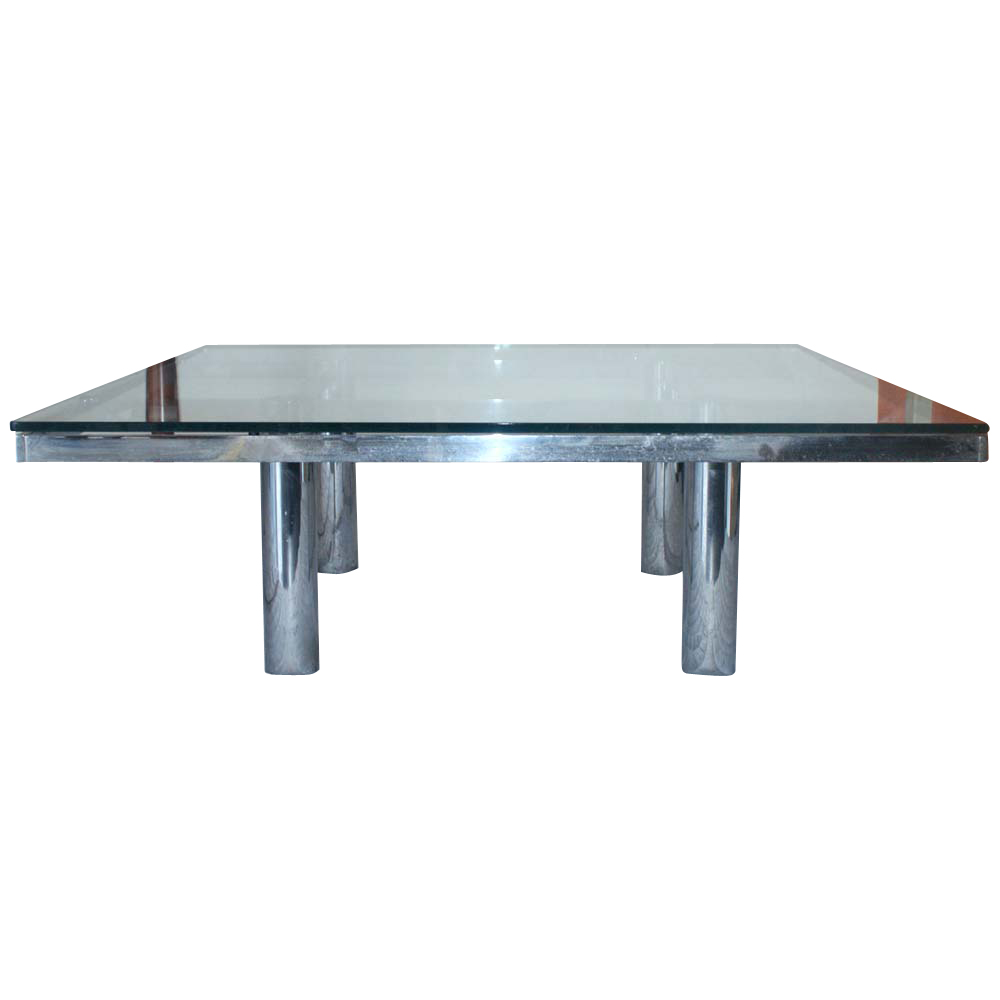 "Square Coffee Table: 45"" Tobia Scarpa Andre Low Square Coffee Table"