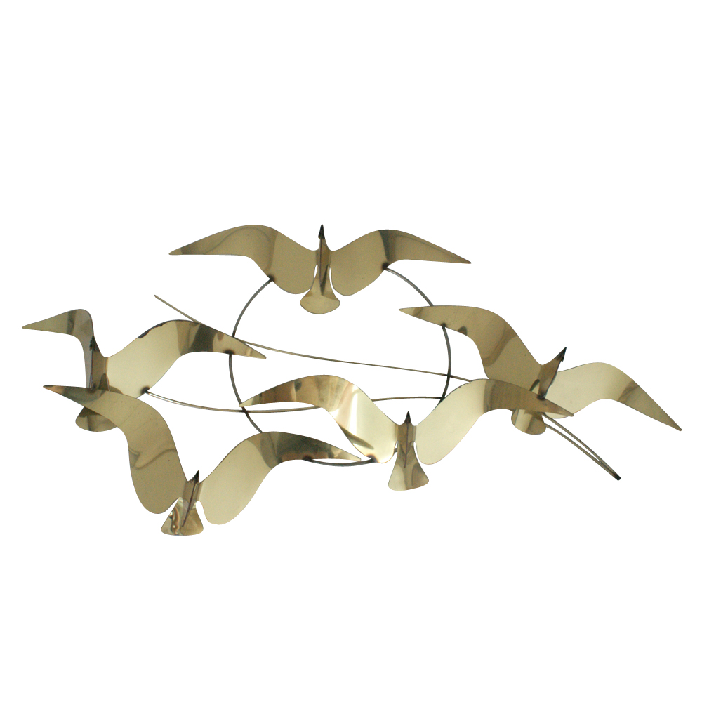 Vintage mid century curtis jere style bird wall sculpture for Bird wall art