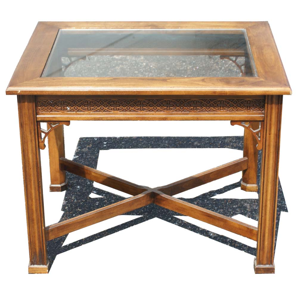 traditional style wood glass side end table mr9530 ebay