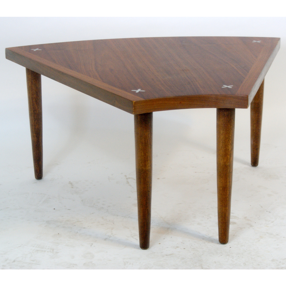 details about vintage danish style walnut side end low table