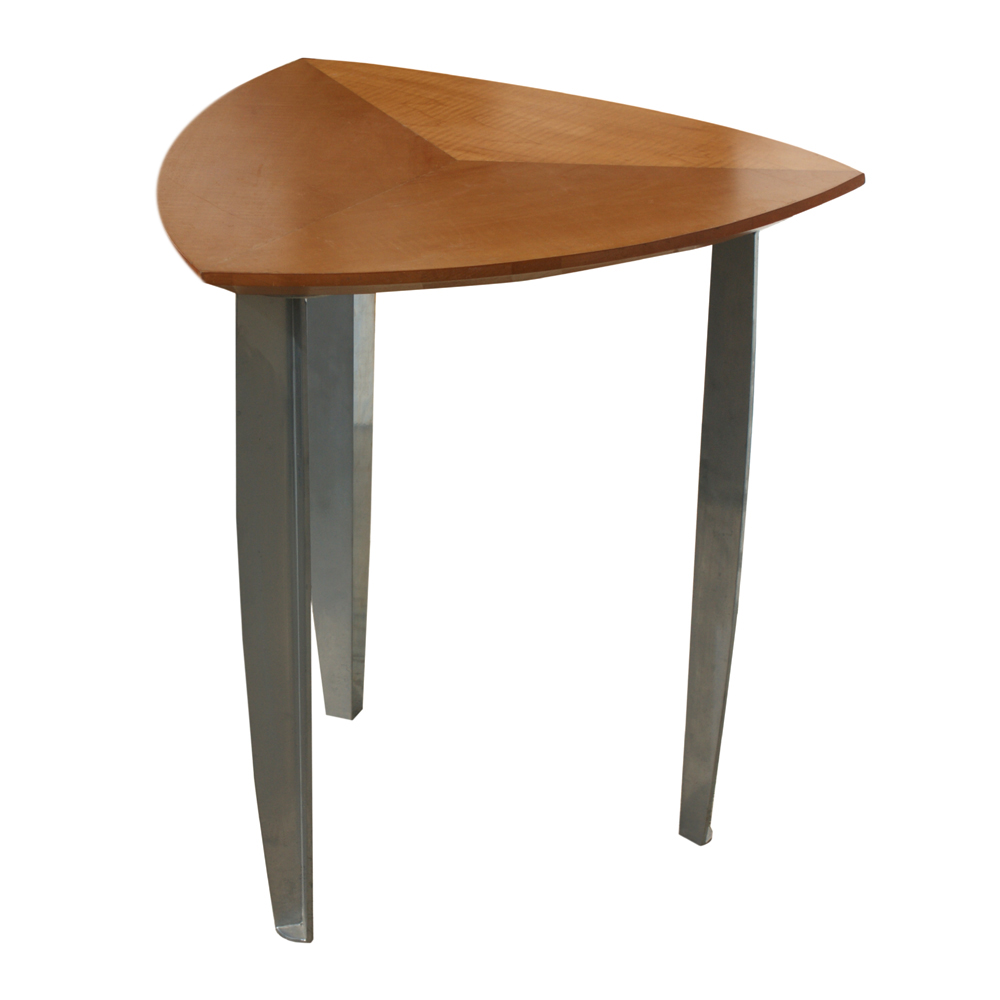 Wood Side Table : Details about Vintage Mid Century Triangular Wood Side Table