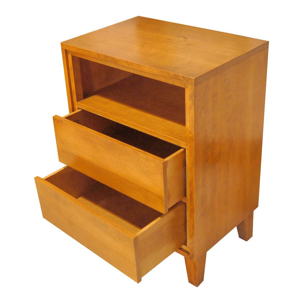 Vintage Russel Wright Modernmates Conant Ball Birch Side Table Nightstand Ebay