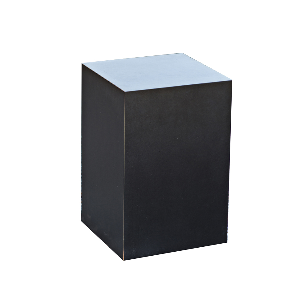 2 Black Laminated Pedestals Side End Tables Ebay