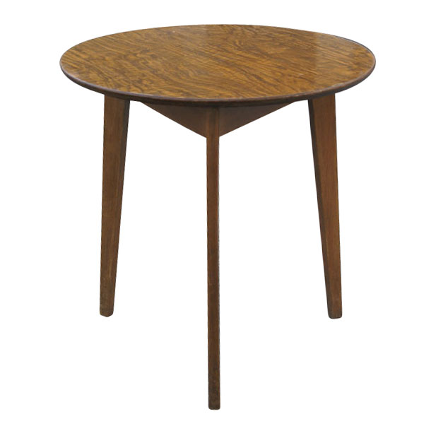 Vintage round side low end table ebay for Retro side table