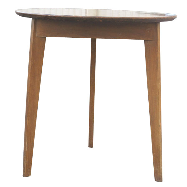 Vintage round side low end table ebay for Low end table