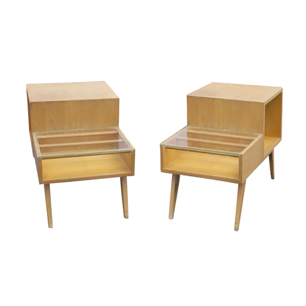 Small Mid Century Modern End Tables: Vintage Mid Century Modern Stow Davis End Side Table