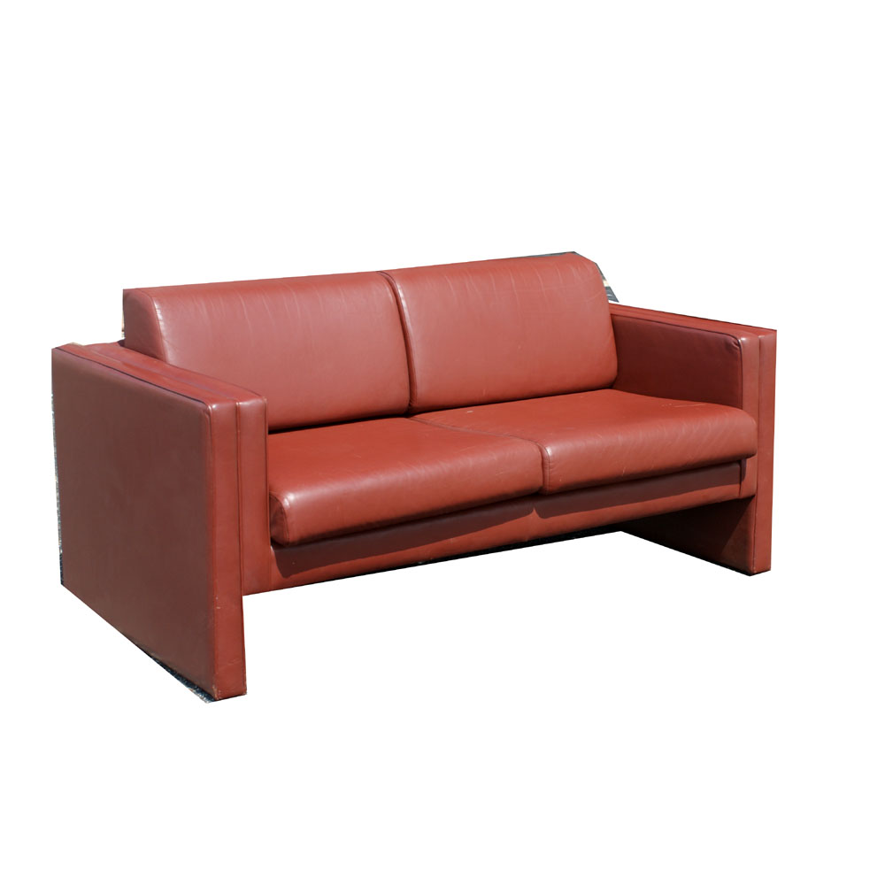 Brayton international leather settee love seat sofa ebay for Divan and settee