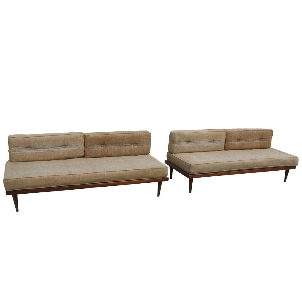 1 mid century modern day bed sofa couch ebay. Black Bedroom Furniture Sets. Home Design Ideas
