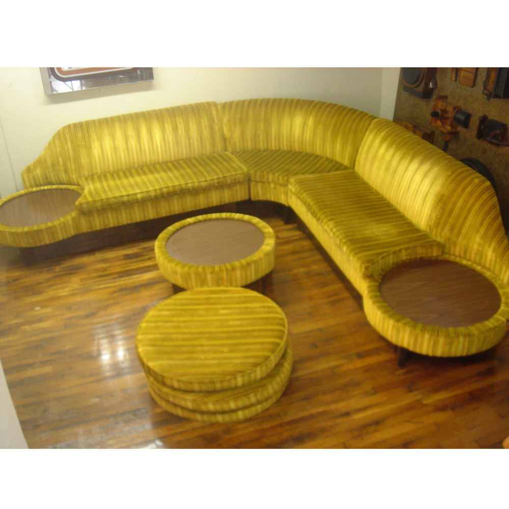 MidCentury Retro Style Modern Architectural Vintage Furniture From - Sectional with built in table