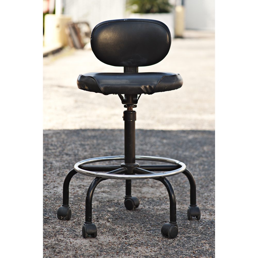 Vintage black cramer adjustable drafting stool ebay for Cramer furniture