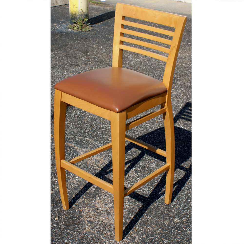 (1) Lowenstein Murano 371B-L Counter Wood Stool