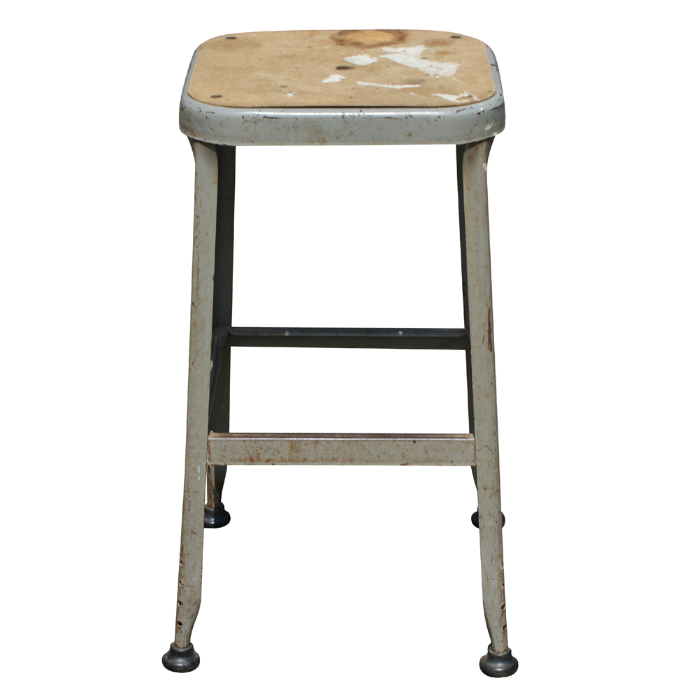 1 Vintage Industrial Age Metal Bar Stool Ebay