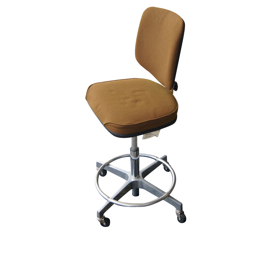 Vintage brown cramer adjustable swivel drafting stool ebay for Cramer furniture