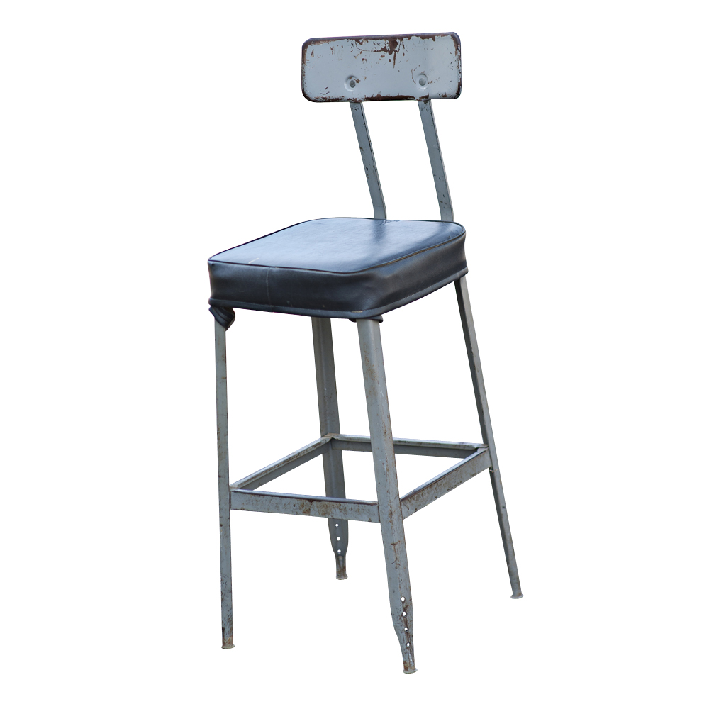 Vintage Industrial Age Bar Stool Task Chair Ebay