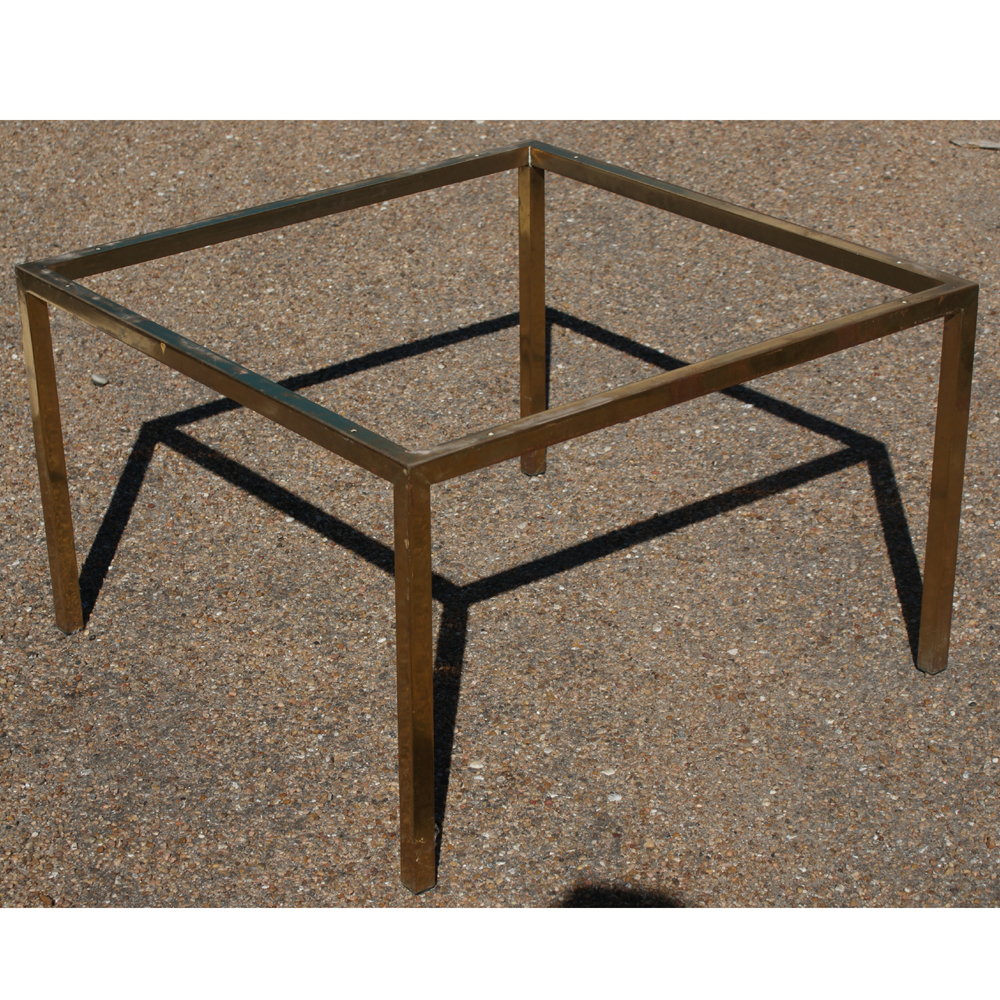 30 square vintage bronze coffee side table base ebay for Side table base