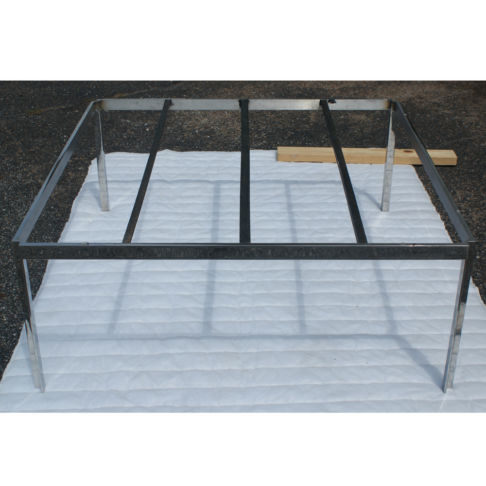 Details About 42 Square Vintage Stainless Steel Coffee Table Base