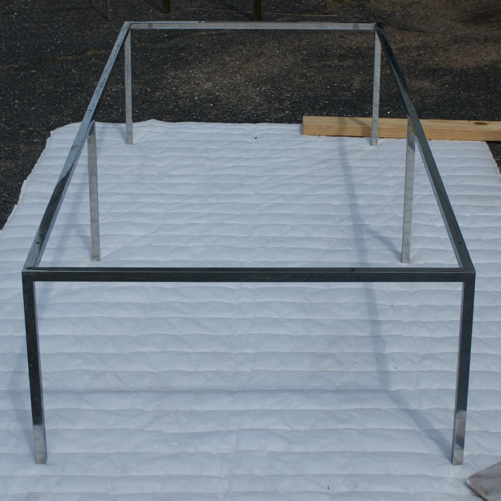 """Ebay Coffee Table Bases: 66""""x30"""" Rectangular Stainless Steel Coffee Table Base"""