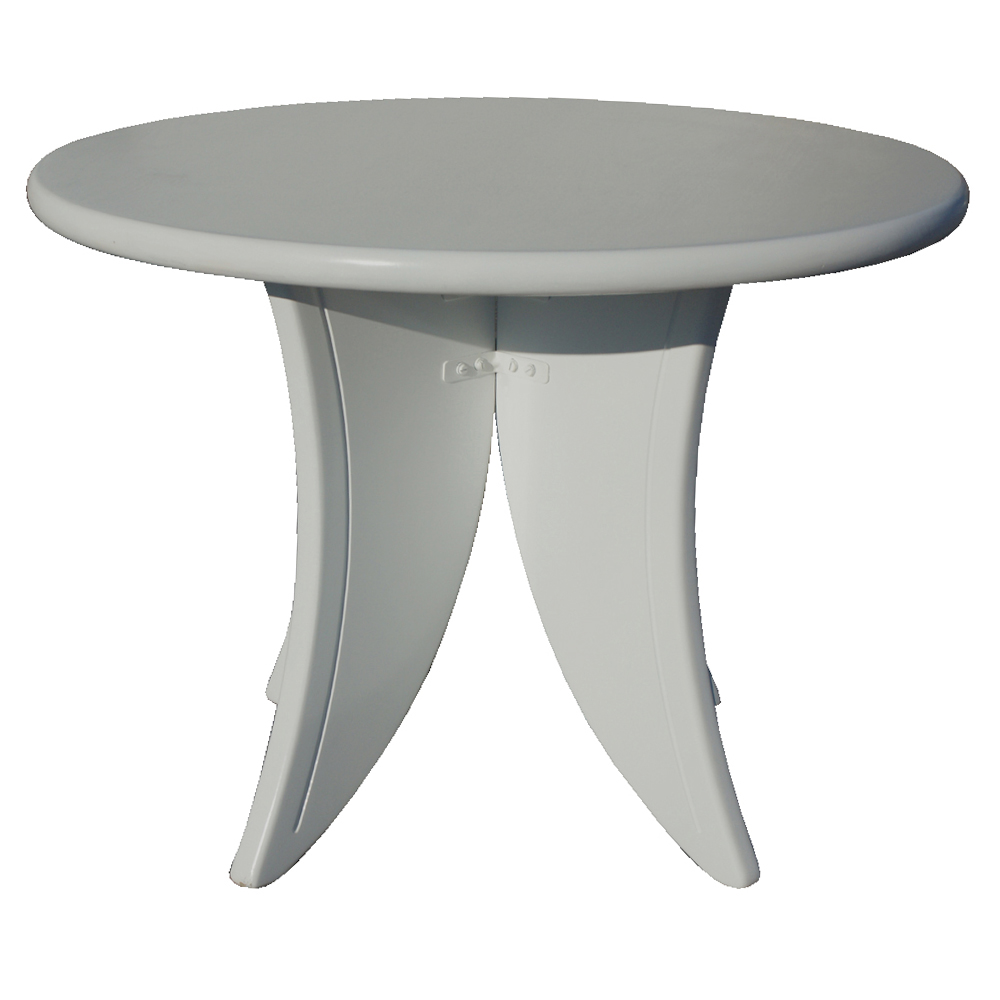 42 round jean pascaud style white wood dining table ebay for White round dining table