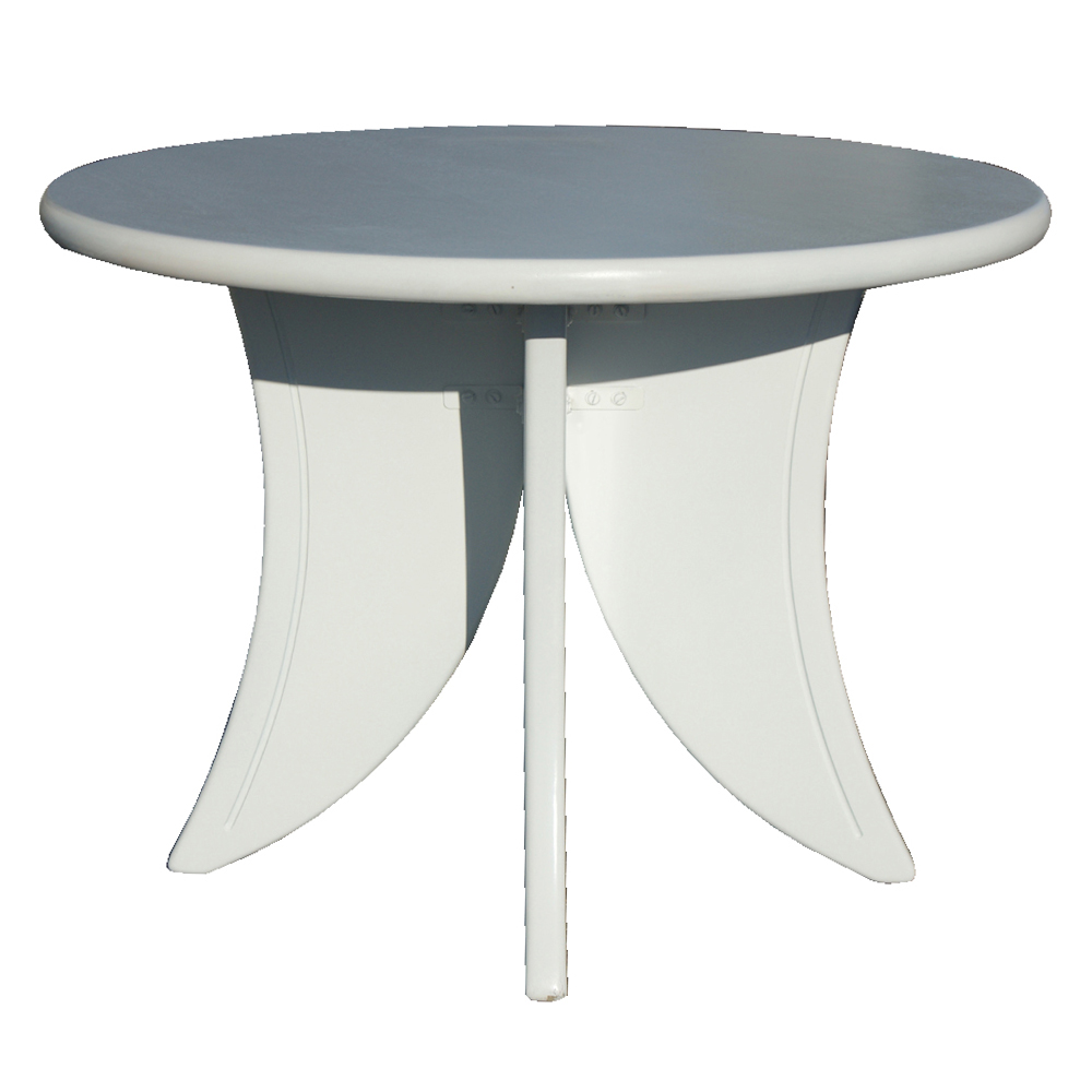 lovely round white wooden dining table set