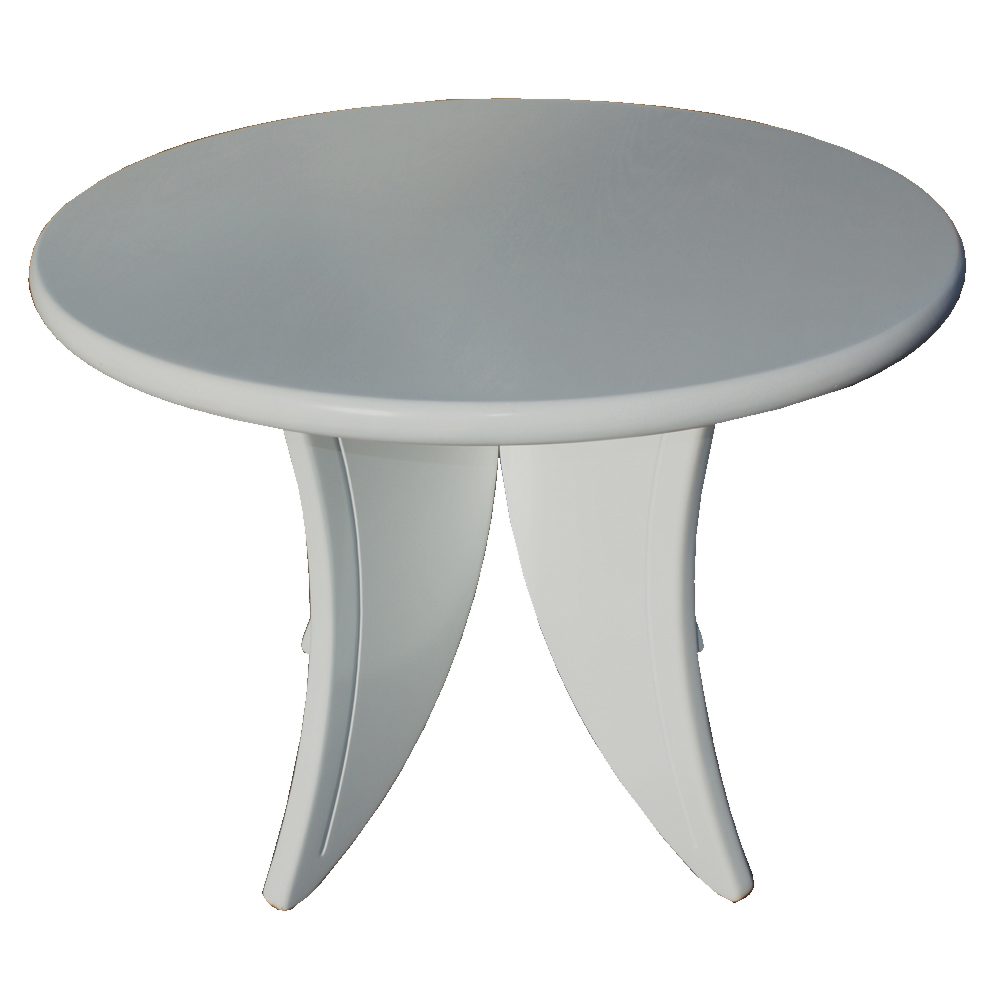 42 quot round jean pascaud style white wood dining table ebay