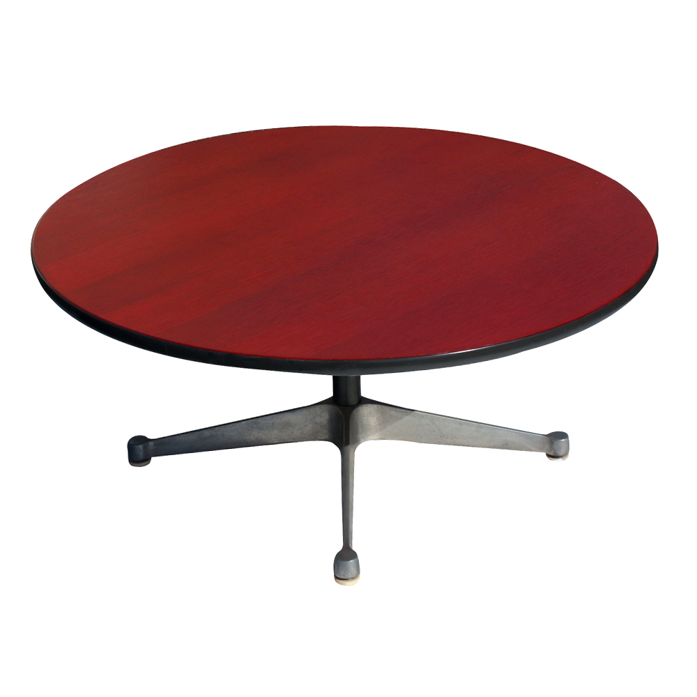 Vintage crimson red herman miller side coffee table ebay - Vintage herman miller ...