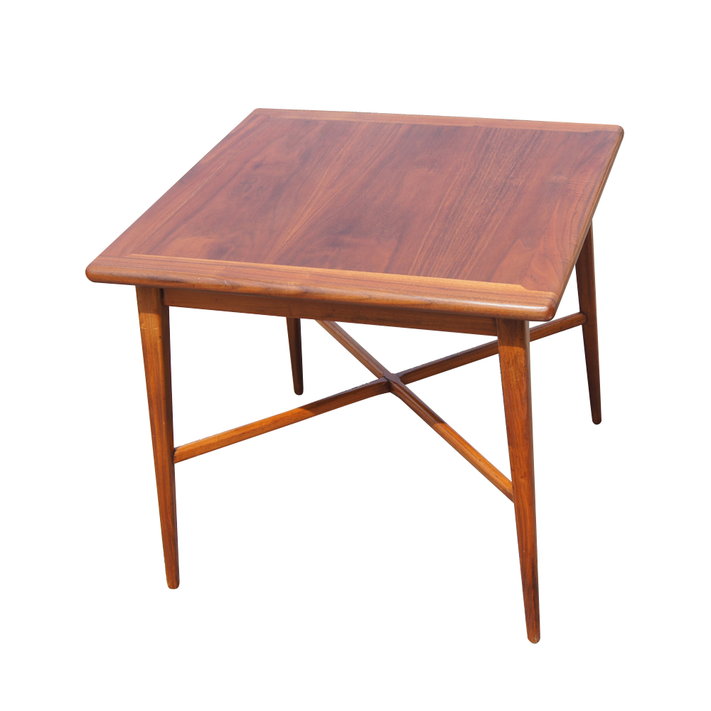 details about 24 vintage mid century modern walnut side end table