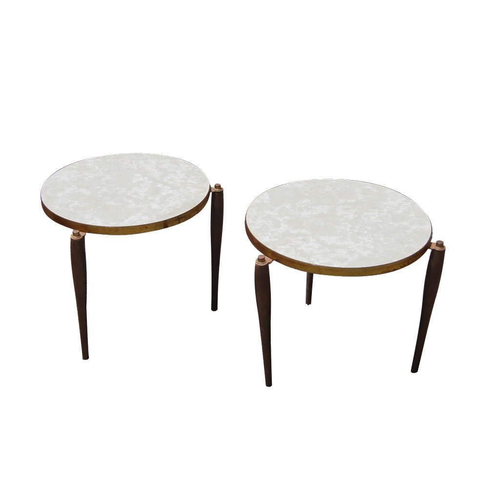2 vintage mid century modern end tables ebay for Old table modern chairs
