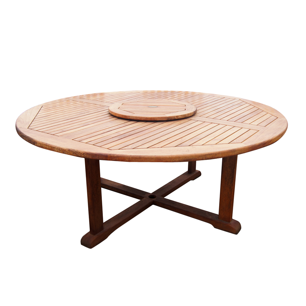 round outdoor dining table large teak dining table with built in lazy