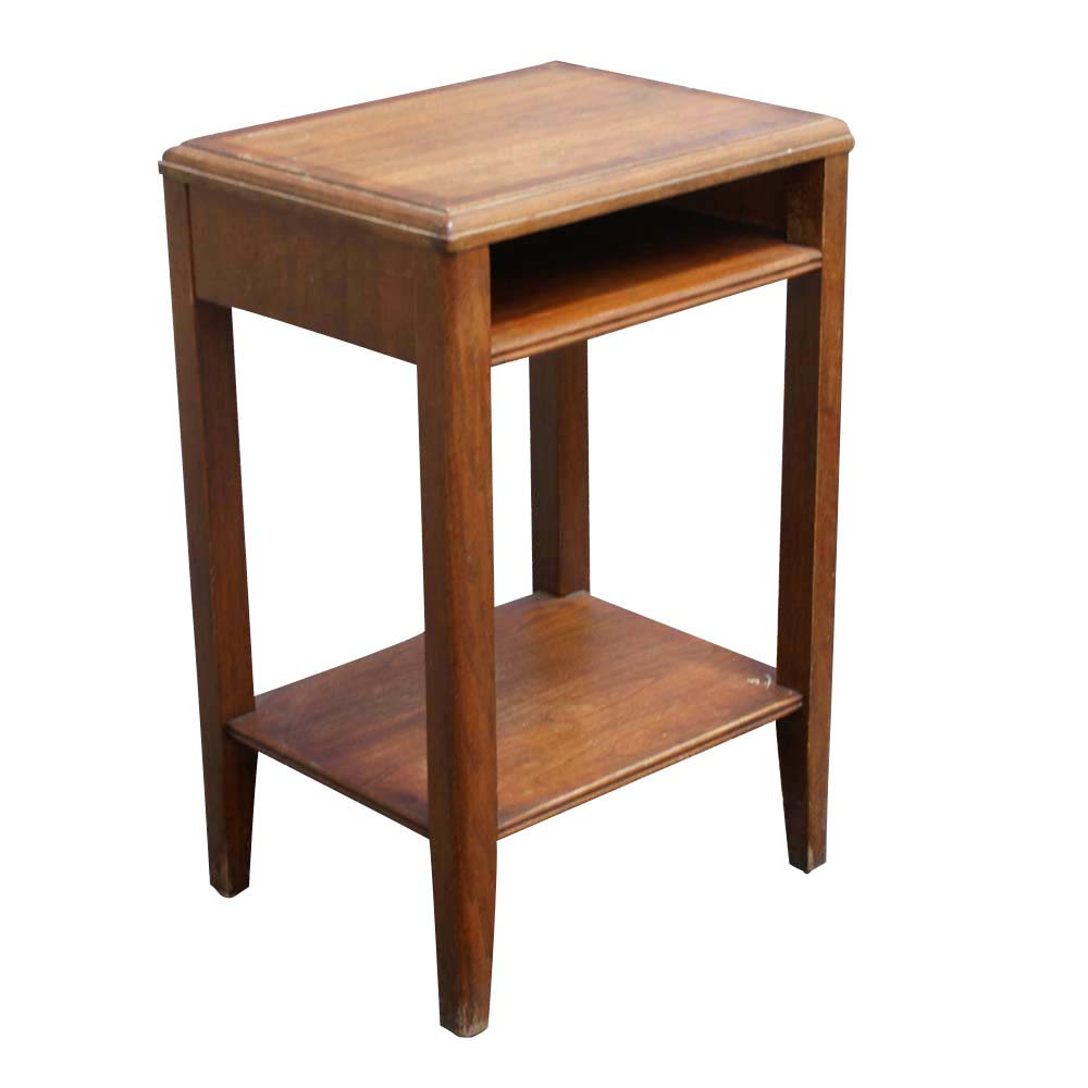 20 vintage leopold two tier telephone end table ebay for Retro end tables