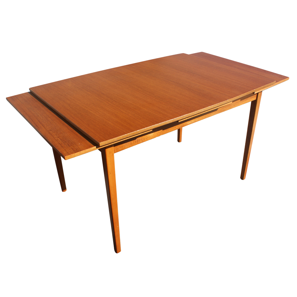 79 vintage danish teak extension dining table ebay for Extension dining table