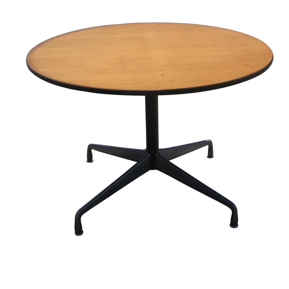 42 round herman miller eames dining table oak ebay. Black Bedroom Furniture Sets. Home Design Ideas