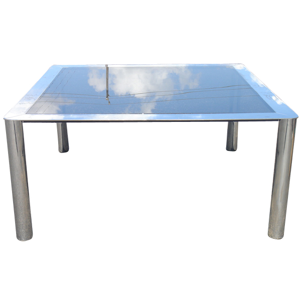 5ft square stendig chrome glass dining table ebay